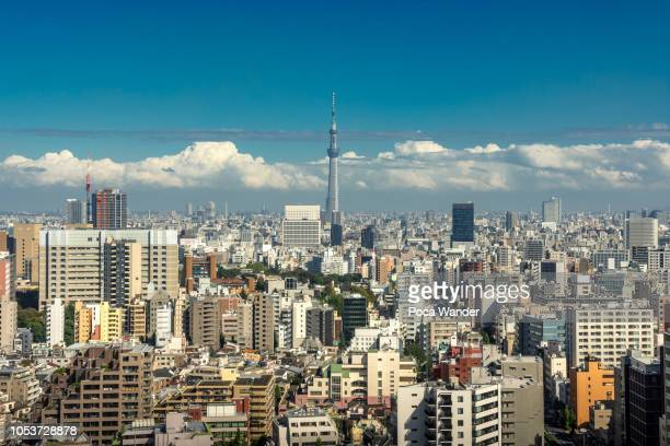 tokyo skytree with skyscraper of sumida city, japan - international landmark stock pictures, royalty-free photos & images