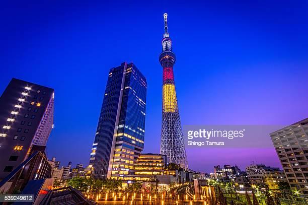 Tokyo Skytree with Twilgiht Gradations