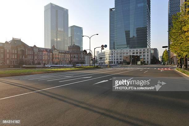 Tokyo station and Marunouchi at dawn