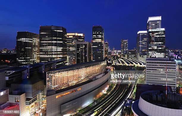 Tokyo Station and Marunouchi at twilight