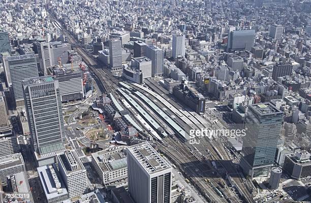 Tokyo Station Area, Aerial View, Pan Focus