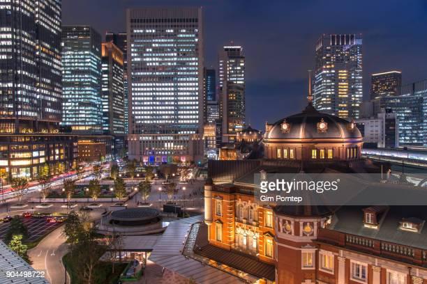 Tokyo Station at night, Tokyo, Japan