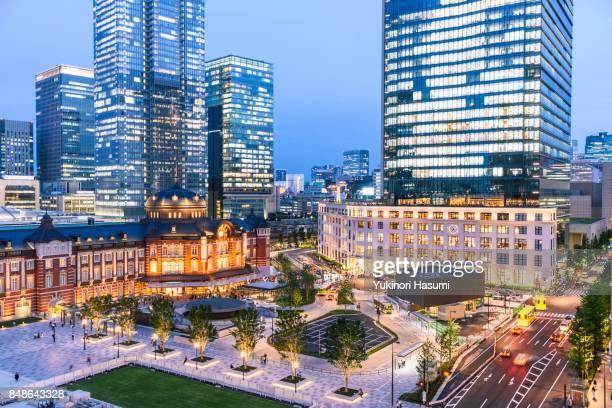 Tokyo Station at Twilight