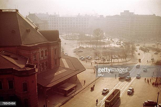 tokyo station in showa - showa period stock pictures, royalty-free photos & images