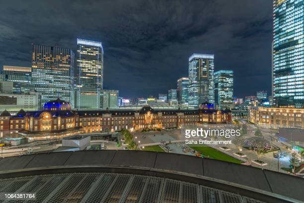 tokyo station light up - saha entertainment stock pictures, royalty-free photos & images