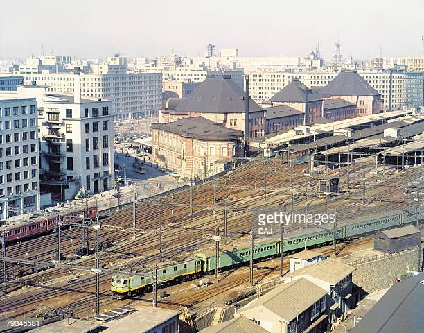 tokyo station - showa period stock pictures, royalty-free photos & images