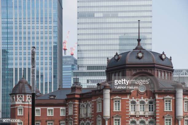 Tokyo station with Office building