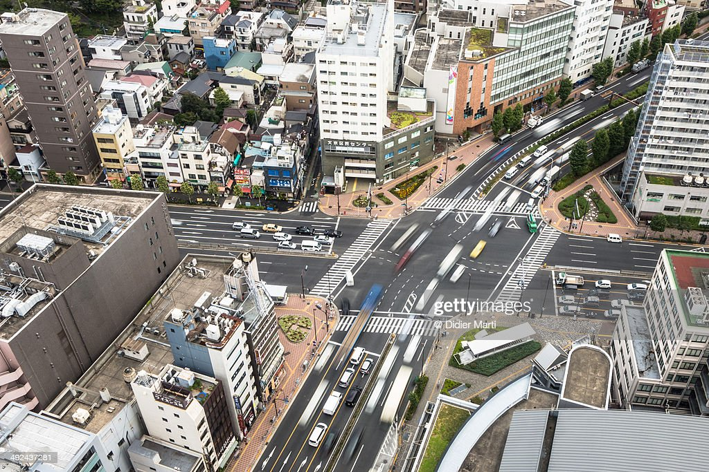 Tokyo streets from above : Stock Photo