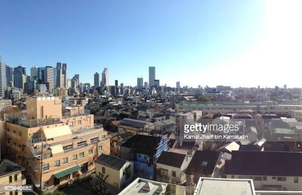 tokyo suburb aerial view - 見渡す ストックフォトと画像