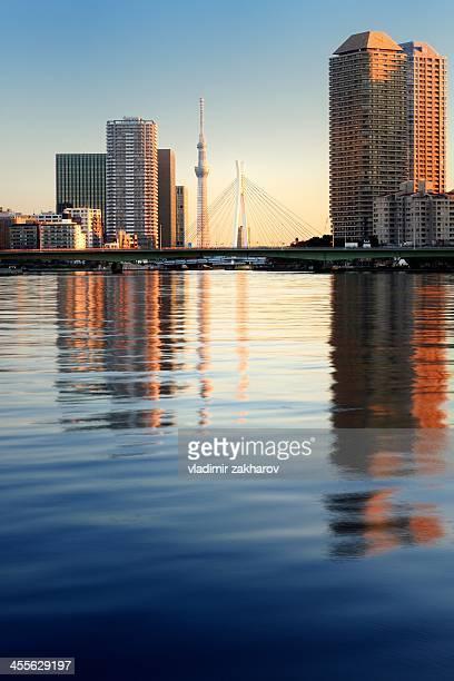 Tokyo, Sumida River at sunrise