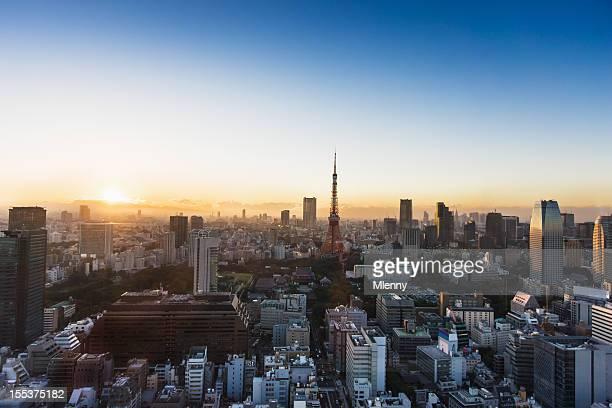 東京の夕日