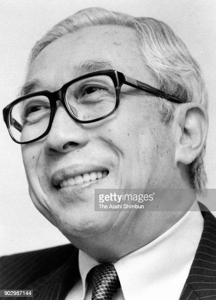 Tokyo Telemessage President Kunio Ochiai speaks during the Asahi Shimbun interview on September 19 1991 in Tokyo Japan