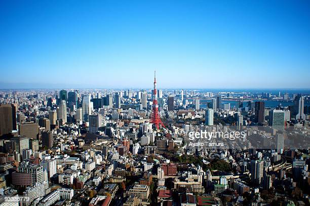 Tokyo Tower and Blue Sky