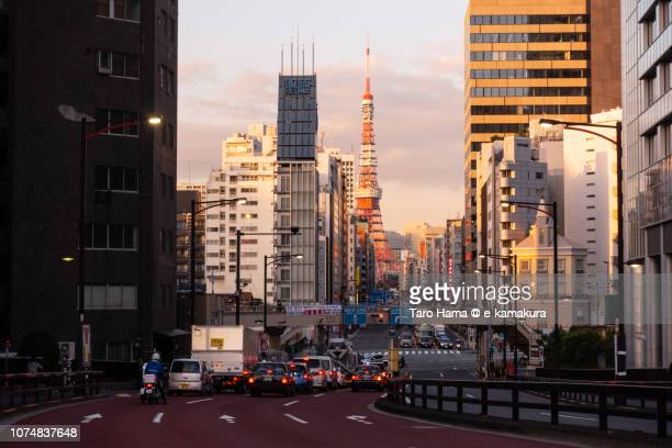 Tokyo Tower and cityscape in the sunset