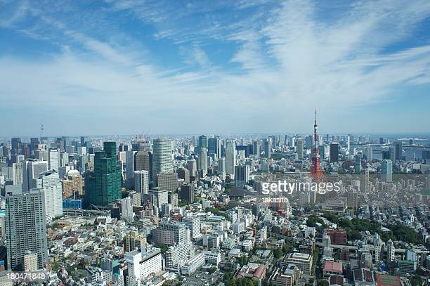 Tokyo Tower and surrounding