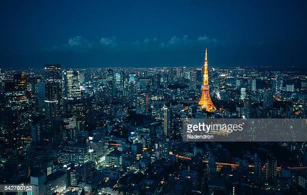 東京タワーの夜