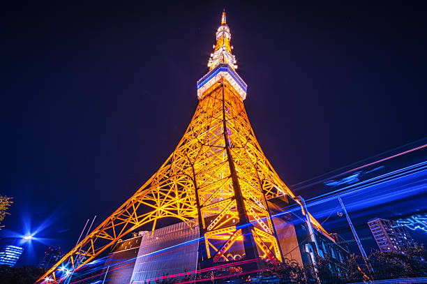 Tokyo Tower By Night Wall Art