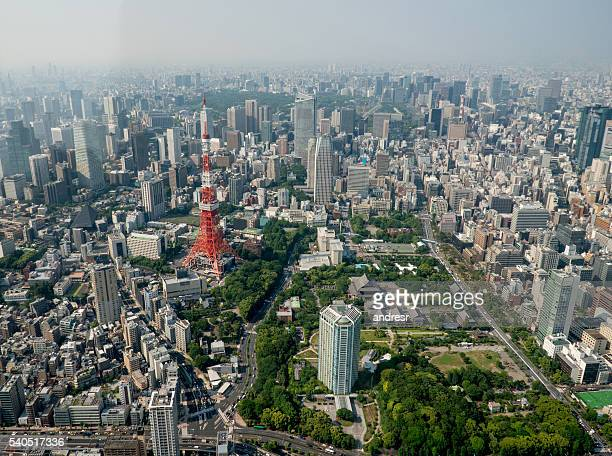 Tokyo tower from the air