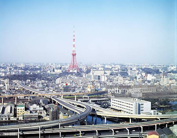 tokyo tower in showa - showa period stock pictures, royalty-free photos & images