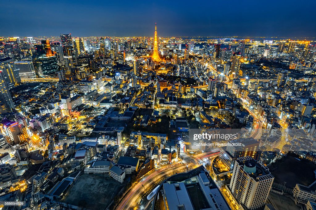 Tokyo Tower in Tokyo, Japan : Stock Photo