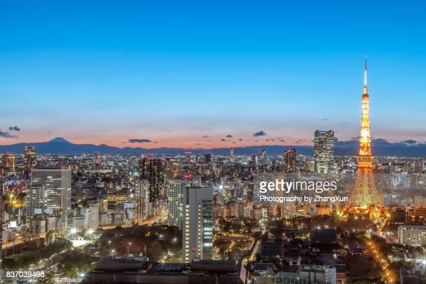 tokyo tower japan. - shinjuku bezirk stock-fotos und bilder