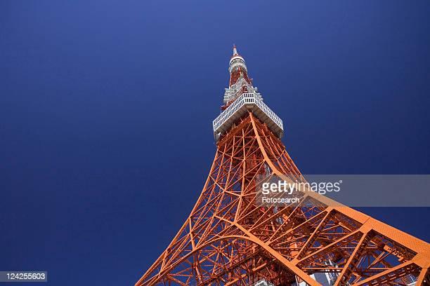tokyo tower - kanto region - fotografias e filmes do acervo