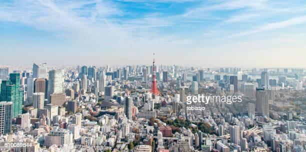 東京タワー  - 全景 ストックフォトと画像
