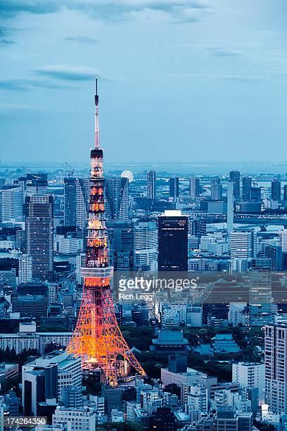 東京タワー夕暮れの街並み