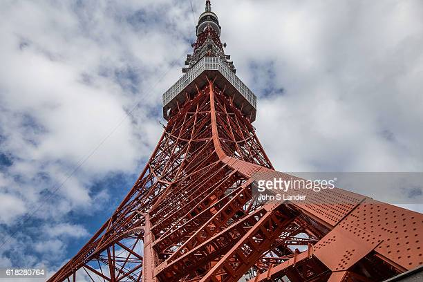 Tokyo Tower stands 333 meters tall and is principally a radio tower that was built in 1958 It is illuminated at night and the colors change by season...