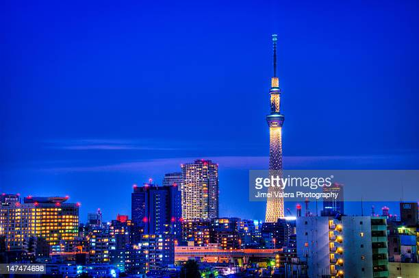 Tokyo tower with beautiful light