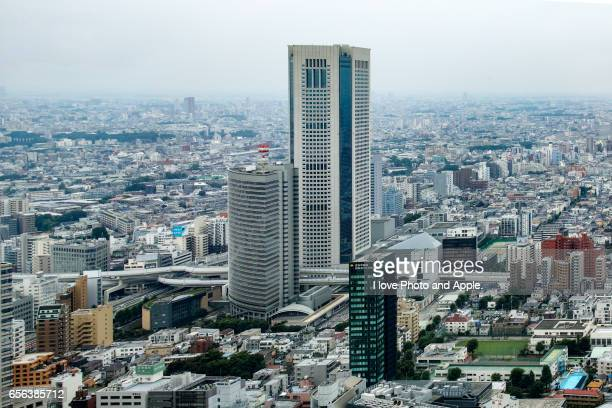 tokyo townscape - 東京都庁舎 ストックフォトと画像