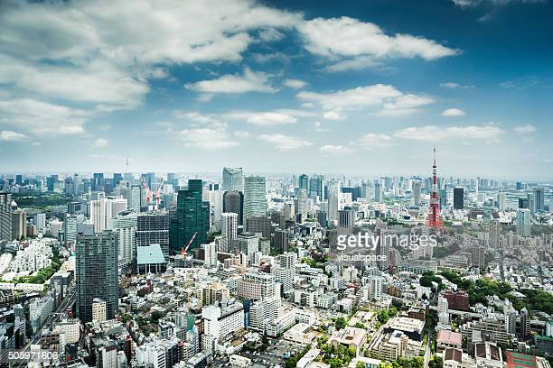 tokyo urban skyline, japan - tokyo japan stock pictures, royalty-free photos & images