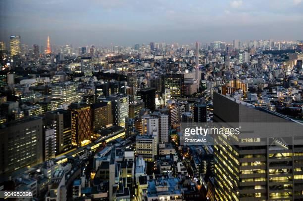 tokyo urban skyline - tokyo midtown stock pictures, royalty-free photos & images