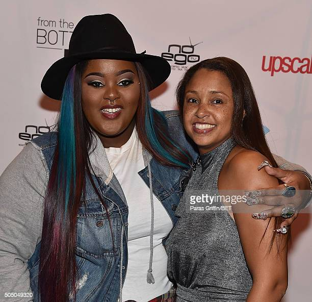 Tokyo Vanity and Luchia Ashe attends From the Bottom Up presented by Centric at Ventanas on January 14 2016 in Atlanta Georgia