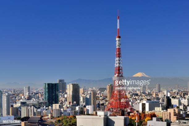 Tokyo view at clear autumn morning