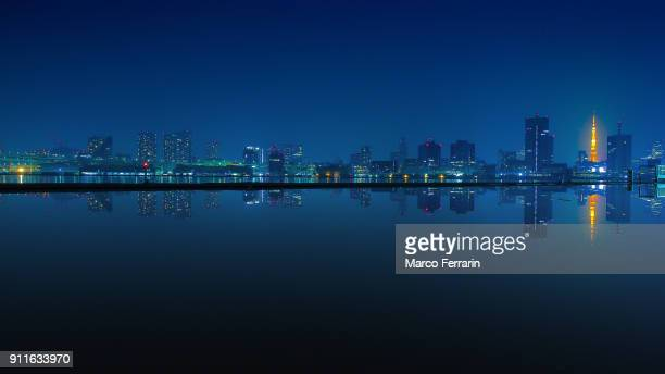 Tokyo Waterfront Skyline at Night
