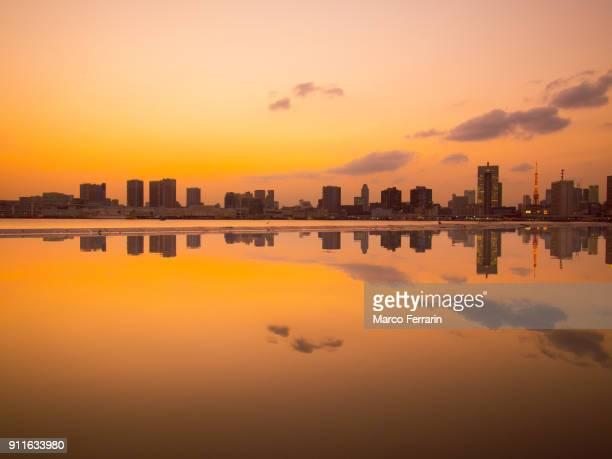 Tokyo Waterfront Skyline at Sunset