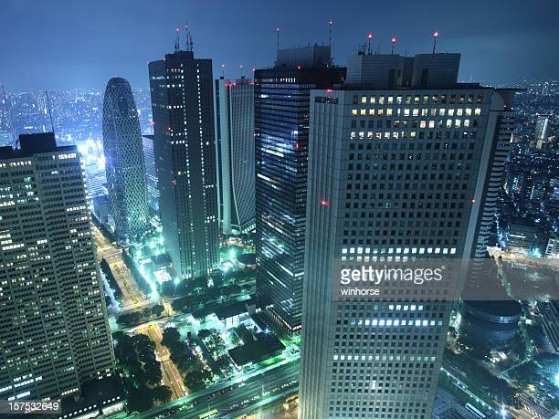 Tokyo's largest skyscraper district at night