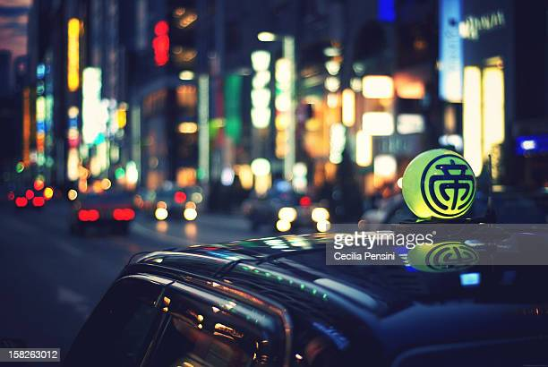Tokyo's Taxi in street