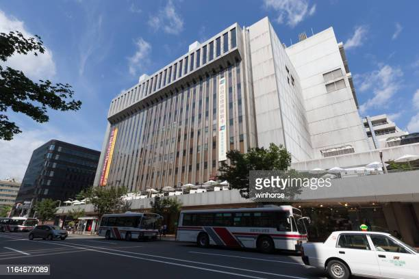 tokyu department store in sapporo, hokkaido, japan - sapporo stock pictures, royalty-free photos & images