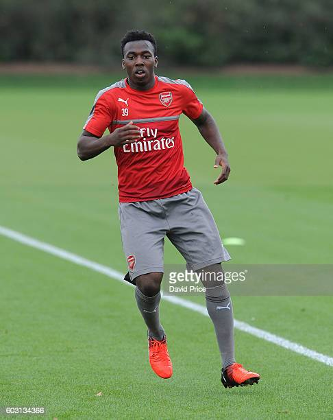 Tolaji Bola of Arsenal during the Arsenal UEFA Youth League Training Session at London Colney on September 12 2016 in St Albans England