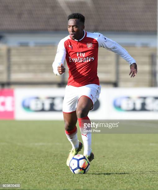 Tolaji Bola of Arsenal during the match between Arsenal and Dinamo Zagreb at Meadow Park on February 24 2018 in Borehamwood England