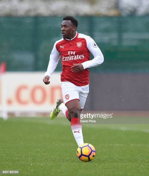 Tolaji Bola of Arsenal during the match between Arsenal U23 and Chelsea U23 at London Colney on March 17 2018 in St Albans England