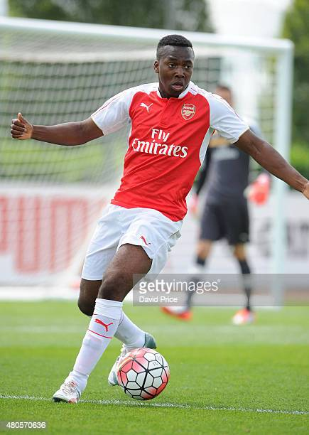 Tolaji Bola of Arsenal during the pre season friendly match between Arsenal U21 and AFC Bournemouth U21 at London Colney on July 11 2015 in St Albans...