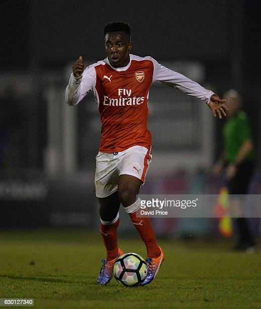 Tolaji Bola of Arsenal during the Premier League match between Arsenal and Stoke City at Meadow Park on December 16 2016 in Borehamwood England