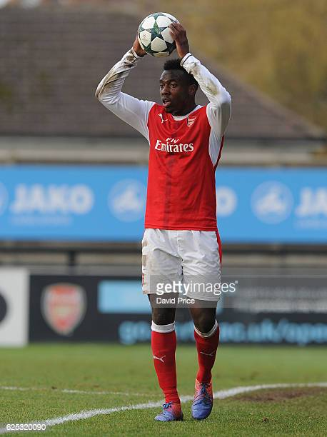 Tolaji Bola of Arsenal during the UEFA Youth League match between Arsenal and Paris Saint Germain at Meadow Park on November 23 2016 in Borehamwood...