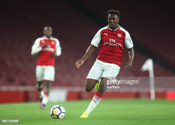 Tolaji Bola of Arsenal U23s during Premier League 2 Division 1match between Arsenal Under 23s against Sunderland Under 23s at Emirates Stadium London...