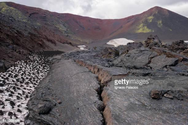 Tolbachik (Толбачик) volcanic complex on the Kamchatka Peninsula at sunrise