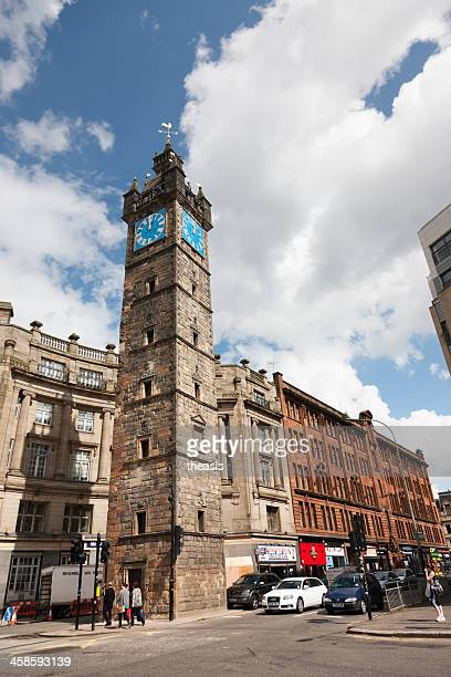 tolbooth steeple, glasgow - theasis stock pictures, royalty-free photos & images