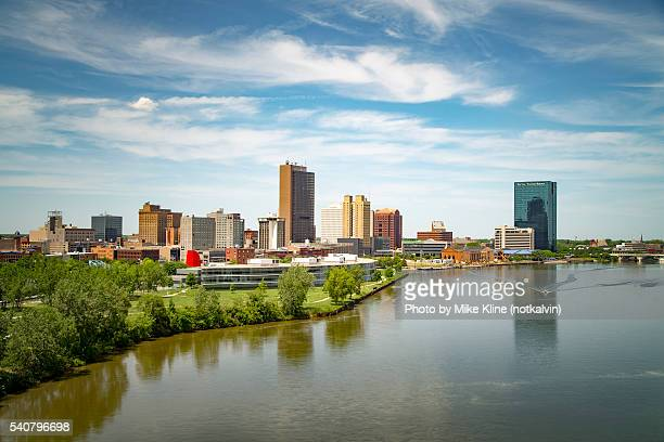toledo and the maumee - toledo ohio stock pictures, royalty-free photos & images